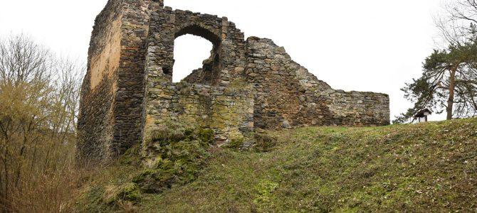Zimní výlet na zříceninu hradu Krašov